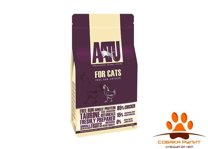 Корм AATU корм для взрослых кошек с курицей, AATU CAT CHICKEN