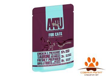 AATU паучи для кошек с курицей и фазаном, AATU FOR CATS CHICKEN & PHEASANT 85г