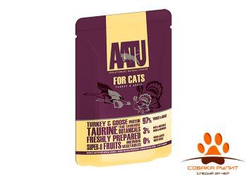 AATU паучи для кошек с индейкой и гусем, AATU FOR CATS TURKEY & GOOSE 85г