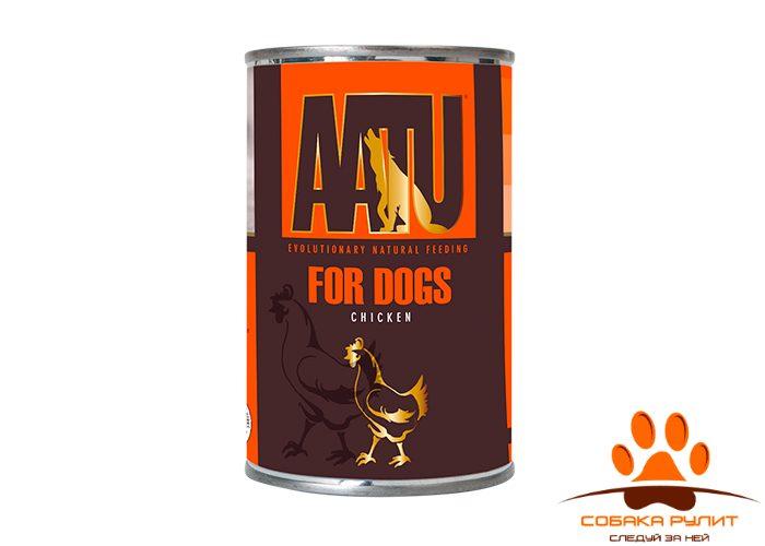 AATU консервы для взрослых собак, с курицей, AATU CHICKEN 400г