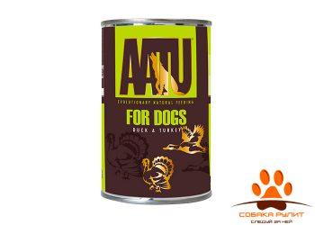 AATU консервы для взрослых собак, с уткой и индейкой, AATU DUCK & TURKEY 400г