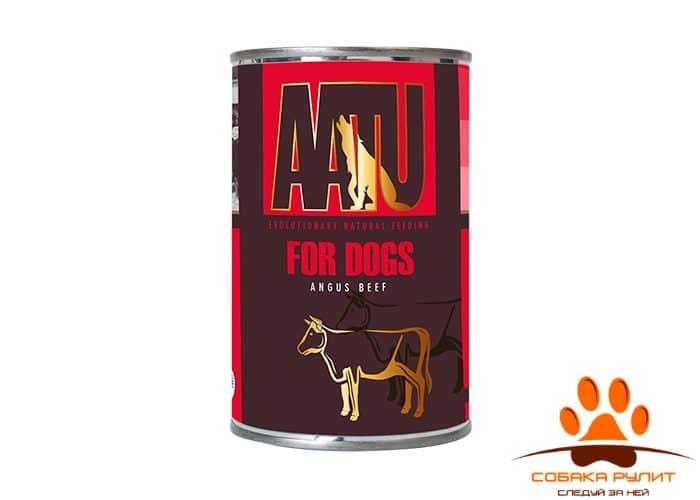 AATU консервы для собак, с говядиной ангус, AATU ANGUS BEEF 400г