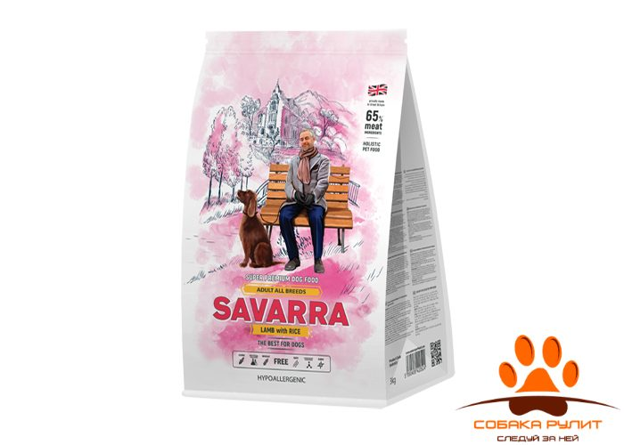 SAVARRA Adult Dog Lamb Сухой корм д/собак Ягненок/рис