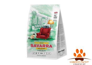 SAVARRA Indoor Adult Cat Сухой корм для/кошек живущих в помещении Утка/рис