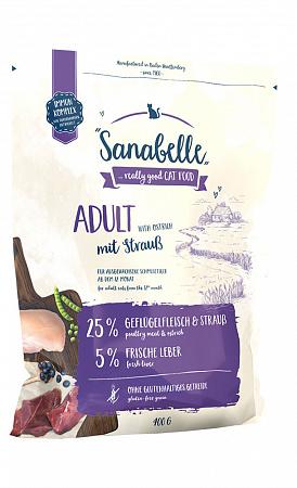 Sanabelle Adult Сухой корм для кошек со страусом