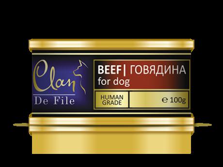CLAN De File консервы для собак 100 г Говядина
