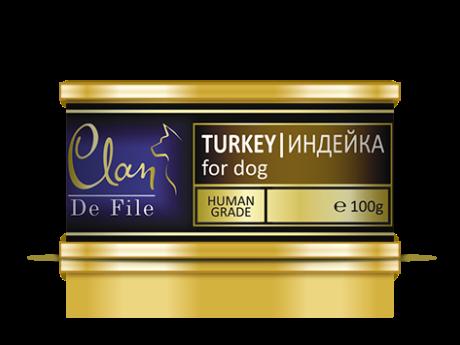CLAN De File консервы для собак 100 г Индейка