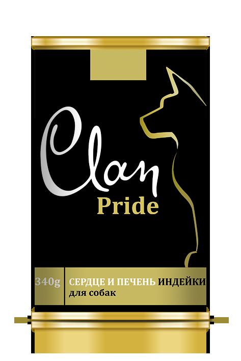 CLAN PRIDE консервы для собак 340 г Сердце и печень индейки