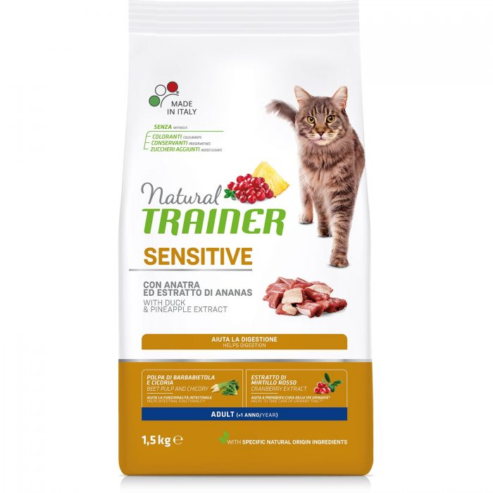 Natural Trainer Cat Sensitive Adult With Duck 1,5кг