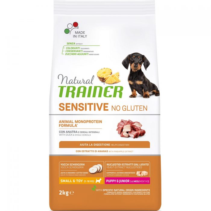Natural Trainer Sensitive No Gluten Puppy&Junior Mini Duck 2кг