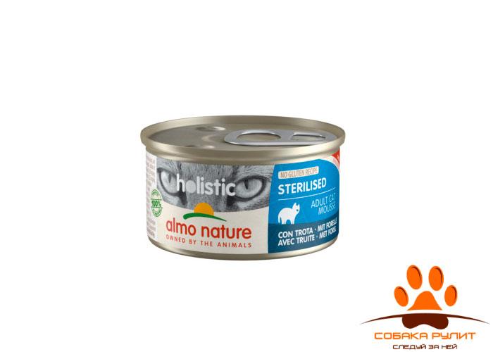 Almo Nature консервы для кастрированных кошек 85г (в ассортименте)
