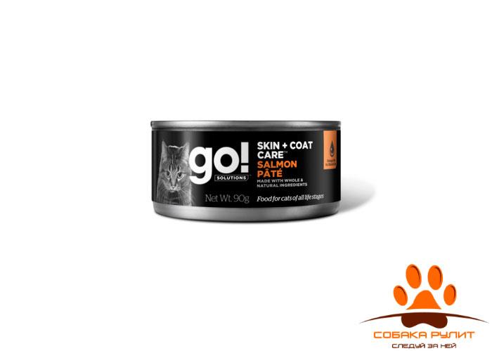 Go! консервы с лососем для кошек всех возрастов, GO! Skin + Coat Care Salmon Pate CF