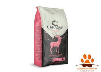 CANAGAN Grain Free, Country Game, корм  для мелких пород собак всех возрастов и щенков, Дичь