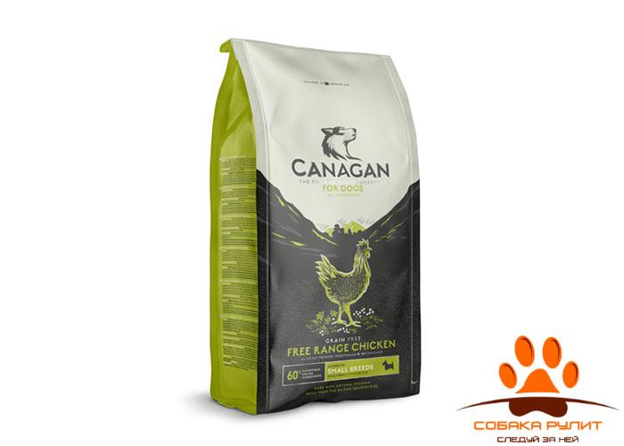 CANAGAN Grain Free, Free-Range Chicken, корм  для мелких пород собак всех возрастов и щенков, Цыпленок