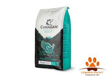 CANAGAN Grain Free, FREE-RUN TURKEY DENTAL, корм  для собак всех возрастов и щенков, Индейка, с добавкой для ухода за полостью рта