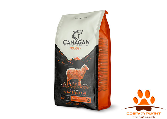 CANAGAN Grain Free, Grass Fed Lamb, корм  для собак всех возрастов и щенков, Ягненок