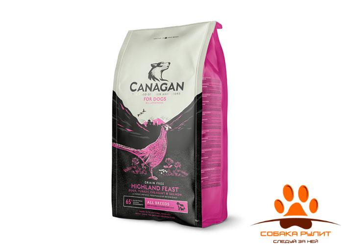 CANAGAN Grain Free, Highland Feast, корм  для собак всех возрастов и щенков, Хайлендский праздник