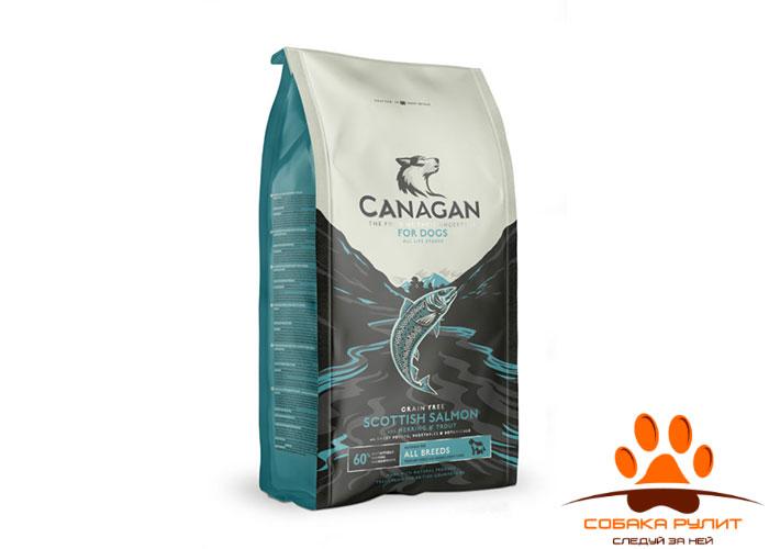 CANAGAN Grain Free, Scottish Salmon, корм  для собак всех возрастов и щенков, Шотландский лосось