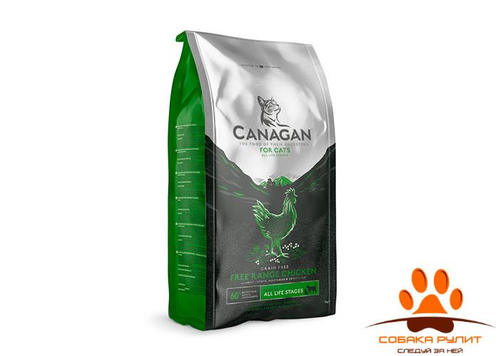 CANAGAN Grain Free, Free-Range Chicken, корм  для кошек всех возрастов и котят, Цыпленок