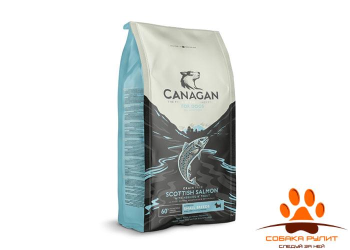 CANAGAN Grain Free, Scottish Salmon, корм  для мелких пород собак всех возрастов и щенков, Шотландский лосось