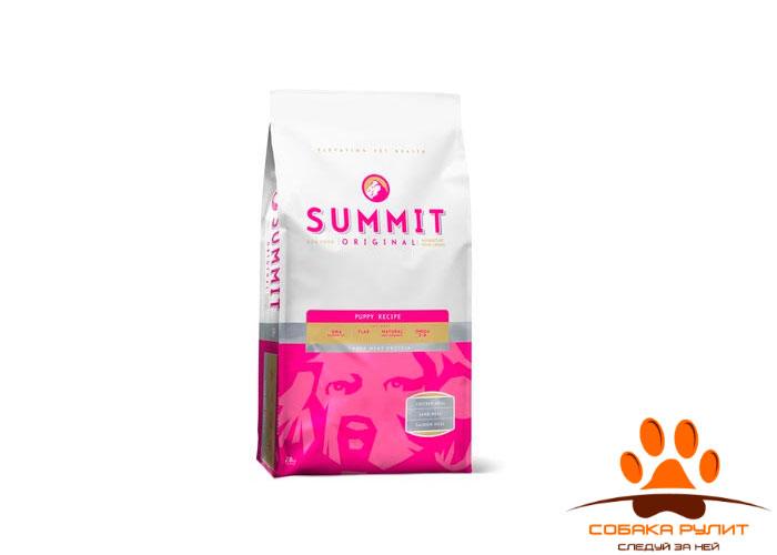 Корм Summit для щенков три вида мяса с ягненком, цыпленком и лососем