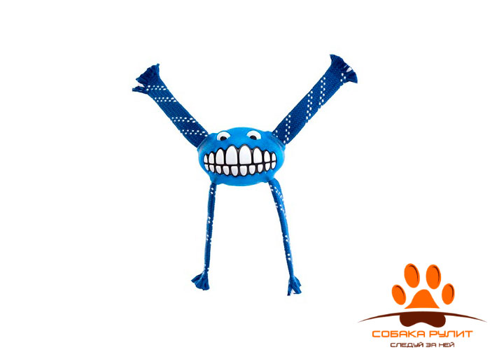 Rogz игрушка с принтом зубы и пищалкой FLOSSY GRINZ FLOSSY GRINZ ORALCARE TOY