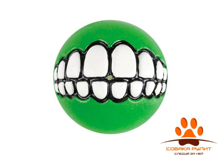 Rogz мяч с принтом зубы и отверстием для лакомств GRINZ