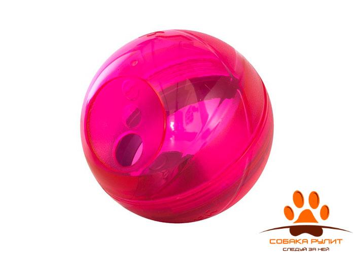 Rogz Игрушка кормушка для собак TUMBLER, розовый, TUMBLER