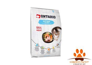 Корм Ontario для котят с лососем