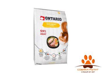 Корм Ontario для особо требовательных кошек с курицей