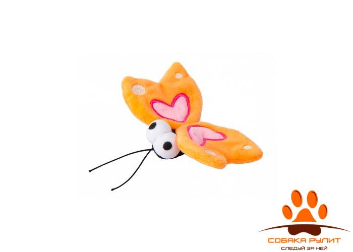 Rogz игрушка для кошек: плюшевая бабочка с кошачьей мятой
