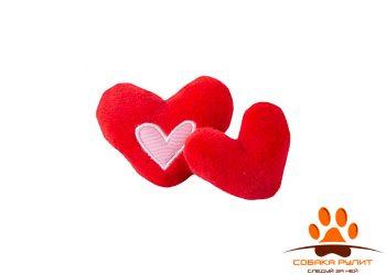 Rogz игрушка для кошек: плюшевые сердечки с кошачьей мятой