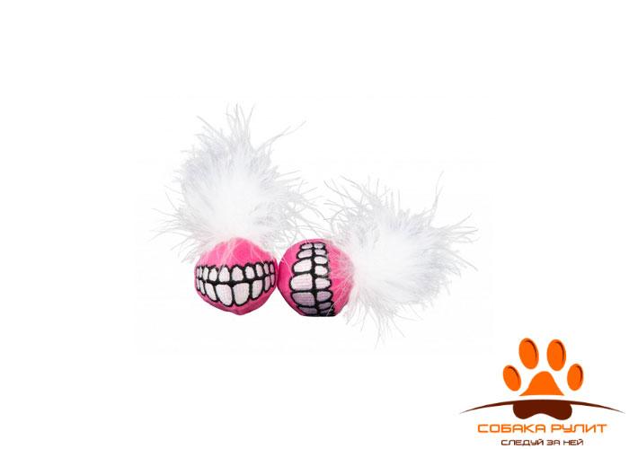 Rogz игрушка для кошек: плюшевые мячики Grinz с кошачьей мятой