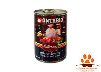 """Ontario консервы для собак """"Минестроне с Курицей и Свининой"""""""