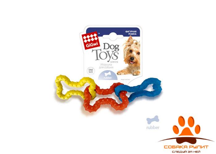 GiGwi косточки, игрушка из фигурной резины, 15 см