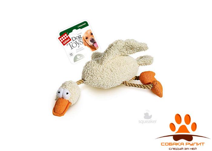 GiGwi утка, игрушка с пищалкой, 32 см