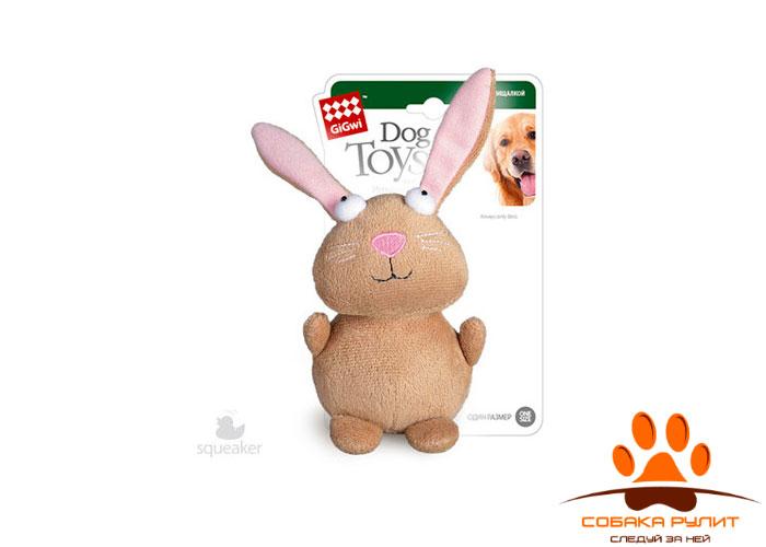 GiGwi кролик, игрушка с пищалкой, 16 см