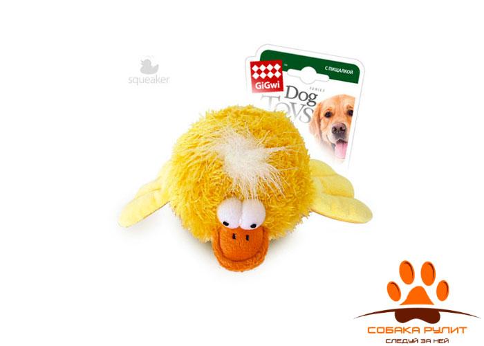 GiGwi утка, круглая игрушка с пищалкой, Ø 12см