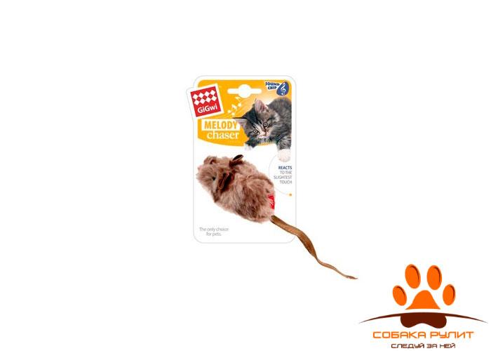 GiGwi мышка, игрушка со звуковым чипом, 9 см