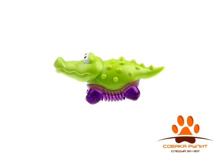 GiGwi крокодильчик, игрушка с пищалкой