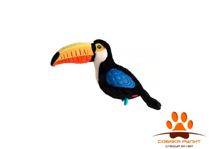 GiGwi тукан, игрушка с пищалкой, 35 см