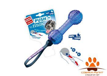 "GiGwi игрушка ""Гантеля"" с отключаемой пищалкой, резина/нейлон"
