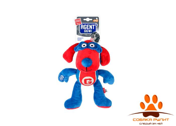 """GiGwi игрушка """"Собака"""" с пищалкой, текстиль/теннисная резина"""