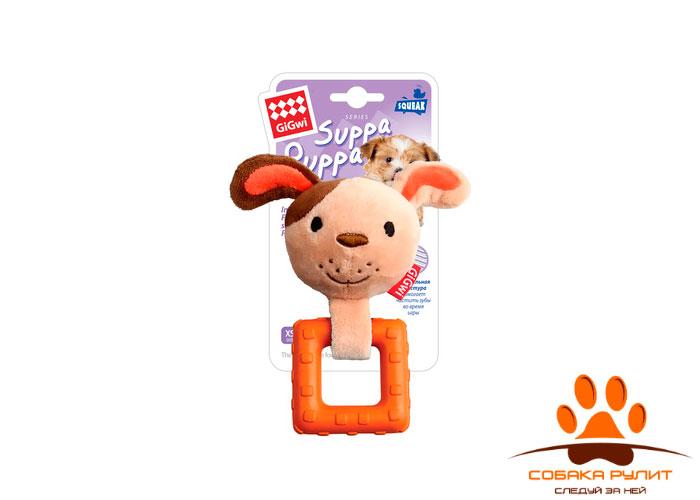 """GiGwi игрушка """"Собачка"""" с пищалкой, текстиль/резина"""