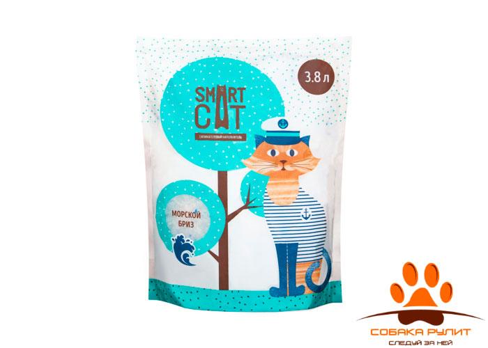 """Smart Cat наполнитель силикагелевый наполнитель с ароматом """"морской бриз"""""""