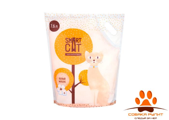 """Smart Cat наполнитель силикагелевый наполнитель с ароматом """"белый мускус"""""""