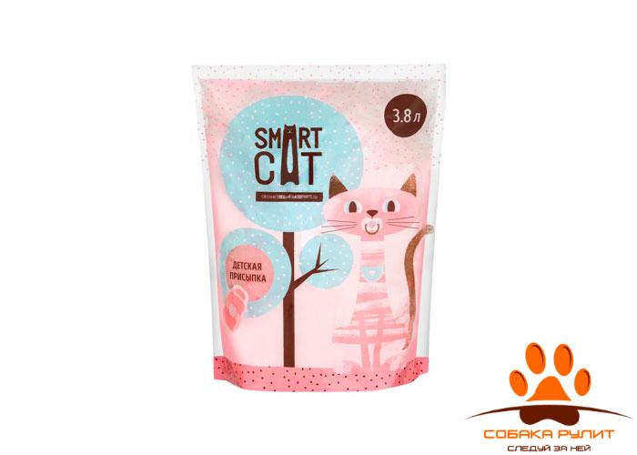 Smart Cat наполнитель силикагелевый наполнитель с ароматом детской присыпки