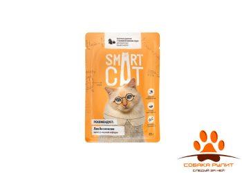 Smart Cat паучи для взрослых кошек и котят: кусочки курочки с тыквой в нежном соусе