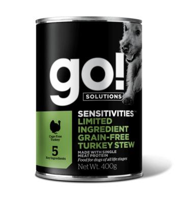 Go! консервы беззерновые с индейкой для собак, GO! Grain Free Turkey Stew DF