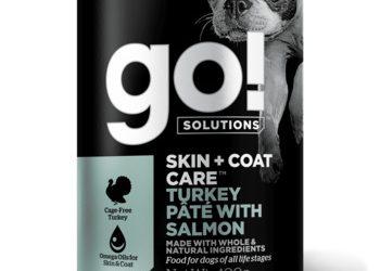 Go! консервы с индейкой и лососем для собак всех возрастов, GO! Skin + Coat Turkey Pate with Salmon DF